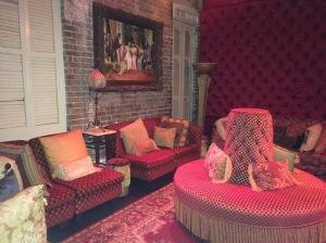Inside Muriel's Restaurant.