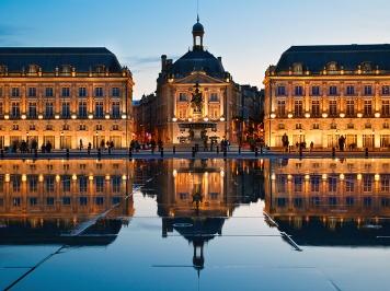 BNHCTR Europe, France, Gironde (33), Bordeaux, Place de la Bourse, Listed as World Heritage By UNESCO