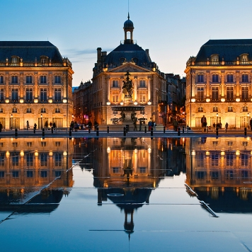 BNHCTR Europe, France, Gironde (33), Bordeaux, Place de la Bourse, Listed as World Heritage By UNESCO