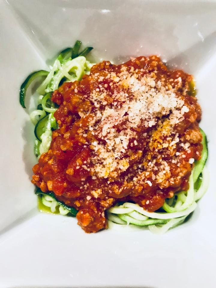 Zucchini Bolognese Pasta